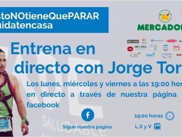 Entrena en directo desde casa con FADE Saludable y Jorge Torres