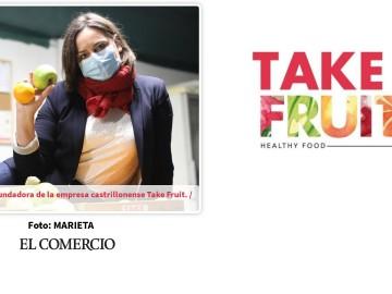 Nuria Perez, responsable de la empresa Take Fruit reconocida con el Premio Emprendedor »Futuro Avilés» 2020 FUENTES: La Nueva España y El Comercio