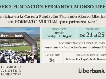 Liberbank y la Fundación Fernando Alonso organizan su tradicional carrera solidaria para participar desde cualquier lugar colaborando con el Banco de Alimentos