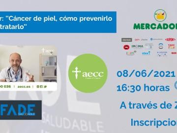 Ya tenemos disponible el vídeo de la sesión »Cáncer de piel, cómo prevenirlo y cómo tratarlo» con la AECC